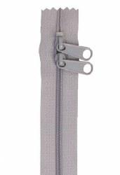 "Zipper 30"" Double Slide Pewter"