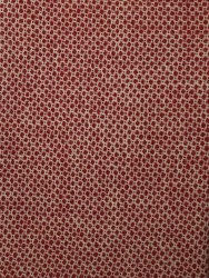 "Wool 9"" x 27"" Honeycomb Red"