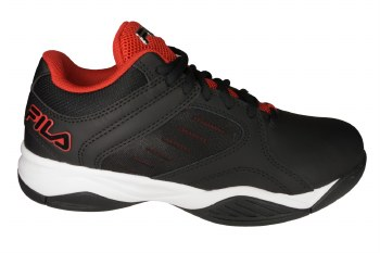 FILA Bank black/fiery red/white Mens Basketball Shoes 10.0