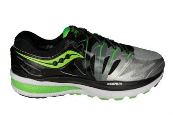 SAUCONY Hurricane ISO 2 black/silver/slime Mens Running Shoes 10.0