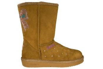 SKECHERS S Lights-Glamslam-Bow Dazzle chestnut Little Kids Boots 2.0