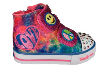 SKECHERS S Lights-Shuffles-Hippie Skips blue/multi Toddlers Lifestyle Shoes 05.0