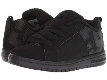 DC Court Graffik SE Black Black Classic DC Style  4.5