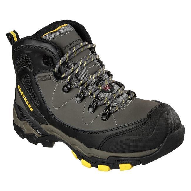 A waterproof, steel-toe hiking boot