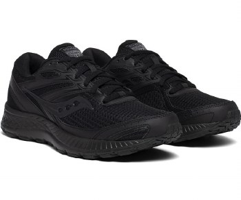 Saucony Cohesion 13 Black Slip Resistant running shoes comfortable running and durable rubber outsoles08.0