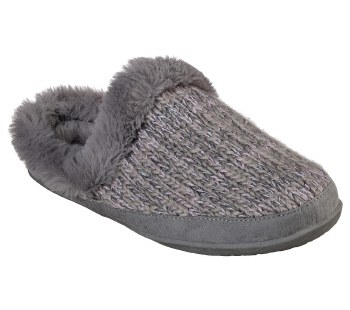 Skechers Womens Cozy Campfires Blissfully warm comfort sweater style slipper for indoors or out. memory foam cushioned footbed06.0