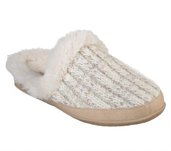 Skechers womens Cozy Campfires blissfully warm sweater styles slippers for indoor and out. memory foam comfort footbed08.0