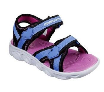 Skechers Girls Sandals Black Blue 1.0