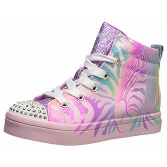 nitrógeno Preescolar Mezclado  Skechers Twinkle Toes Pink Multi Light up High tops 012. - Shoes Right Here