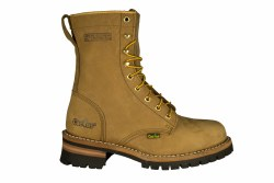 """CACTUS 9219 light brown Mens 9"""" Logger Boots 07.5"""