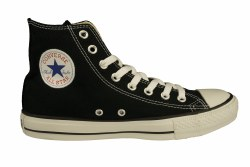 CONVERSE Chuck Taylor All Star hi black Unisex Classic Lifestyle Shoes 07.5
