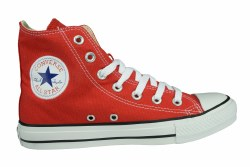 CONVERSEChuck Taylor All Star hi red Unisex Classic Lifestyle Shoes 04.5