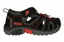 FILA Gripper Lite black/fiery red/castlerock Little Kids Sandals 012.0