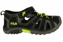FILA Gripper Lite black/lime punch/castlerock Big Kids Sandals 6.0