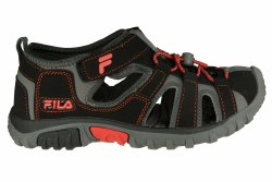 FILA Gripper Lite black/firey red/castlerock Big Kids Sandals