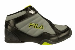 FILA Leave It On The Court monument/black/lime punch Big Kid's Basketball Shoes 6