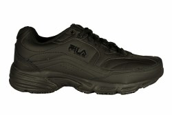 FILA Memory Workshift 4E wide black/black/black Mens Slip Resistant Work Shoes 06.5