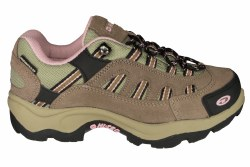 HI-TEC Bandera low taupe/pink Womens Waterproof Hiking Shoes 07.0