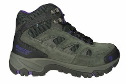 HI-TEC Logan Mid WP charcoal/purple Womens Waterproof Hiking Boots 07.0