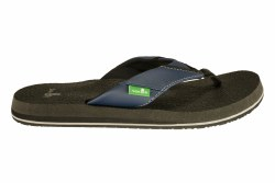 SANUK Beer Cozy navy Mens Flip-Flop Sandals 07