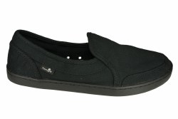 SANUK Pair O Dice black Womens Sidewalk Surfer Shoes 07.5