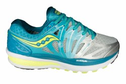SAUCONY Hurricane ISO 2 blue/silver/citron Womens Running Shoes 07.5
