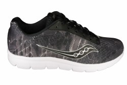 SAUCONY Ideal black/grey/print Womens Running Shoes 09.0