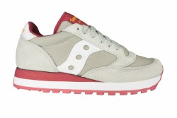 SAUCONY Jazz Original grey/red Womens Lifestyle Shoes 07.5
