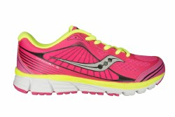 SAUCONY Kinvara 5 pink/black/citron Big Kids Running Shoes 5.5