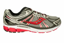 SAUCONY Omni 13 wide silver/black/red Mens Running Shoes 10.0
