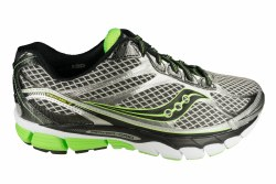 SAUCONY Ride 7 wide silver/black/slime Mens Running Shoes 09.5