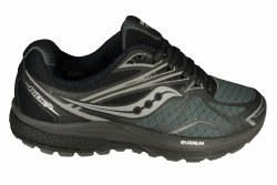 SAUCONY Ride 9 Reflex black/silver Womens Running Shoes 08.0
