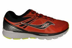 SAUCONY Swerve red/black/citron Mens Running Shoes 10.0