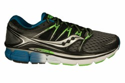 SAUCONY Triumph ISO grey/black/slime Mens Running Shoes 10.0