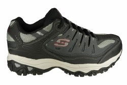 SKECHERS After Burn Memory Fit charcoal/black Mens Training Shoes 14.0