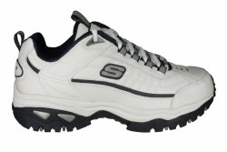 SKECHERS After Burn wide white/navy Mens Training Shoes 06.5