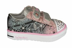 SKECHERS Twinkle Breeze-Comet Cutie black/silver/pink Toddlers Shoes 05.0