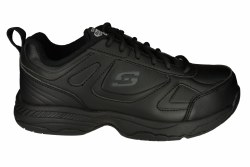 SKECHERS Dighton-Bricelyn wide black Womens Work Shoes 05.0
