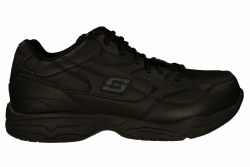 SKECHERS Felton wide black Men's Slip Resistant Work Shoes 07.5