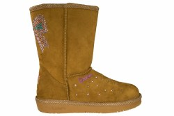 SKECHERS S Lights-Glamslam-Bow Dazzle chestnut Little Kids Boots 2.0