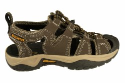 SKECHERS Journeyman-Migrate chocolate/taupe Little Kid's Closed Toe River Sandals 011