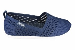 SKECHERS Plush Lite-Peek wide navy Womens Lifestyle Shoes 06.0