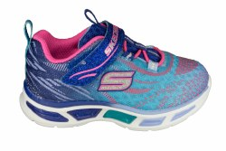 SKECHERS S Lights-Lightbeams blue/hot pink Toddlers Shoes 05.0