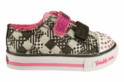 SKECHERS Shuffles-Patchwork Party black/pink Toddlers Lifestyle Shoes 05.0