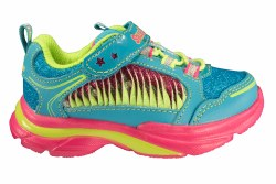 SKECHERS Sparkle Lites Lite Kicks 2-Twisty Kicks turquoise/multi Toddlers Athletic Running Shoes 05