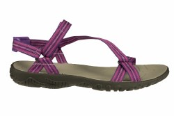 TEVA Zirra native stripes purple Big Kids Water Sandals 4