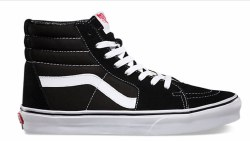 VANS Sk8 Hi black/white Unisex Skate Shoes 04.0