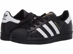 Adidas Superstars Mens Black White Black 10.5