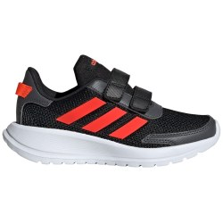 Adidas Tensaur Run C Kids Running Shoes Velcro Black Red 011.
