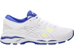 Asics Gel Kayano 24 White/Safety Yellow Womens running Shoes T799N-0148 07.0